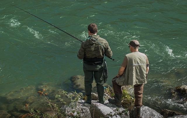 společné rybaření