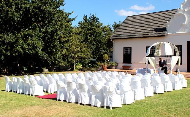 svatba venku