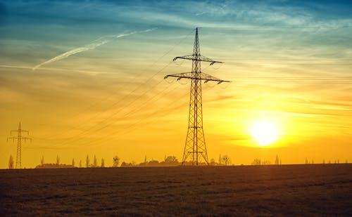 twilight-power-lines-evening-evening-sun-46169